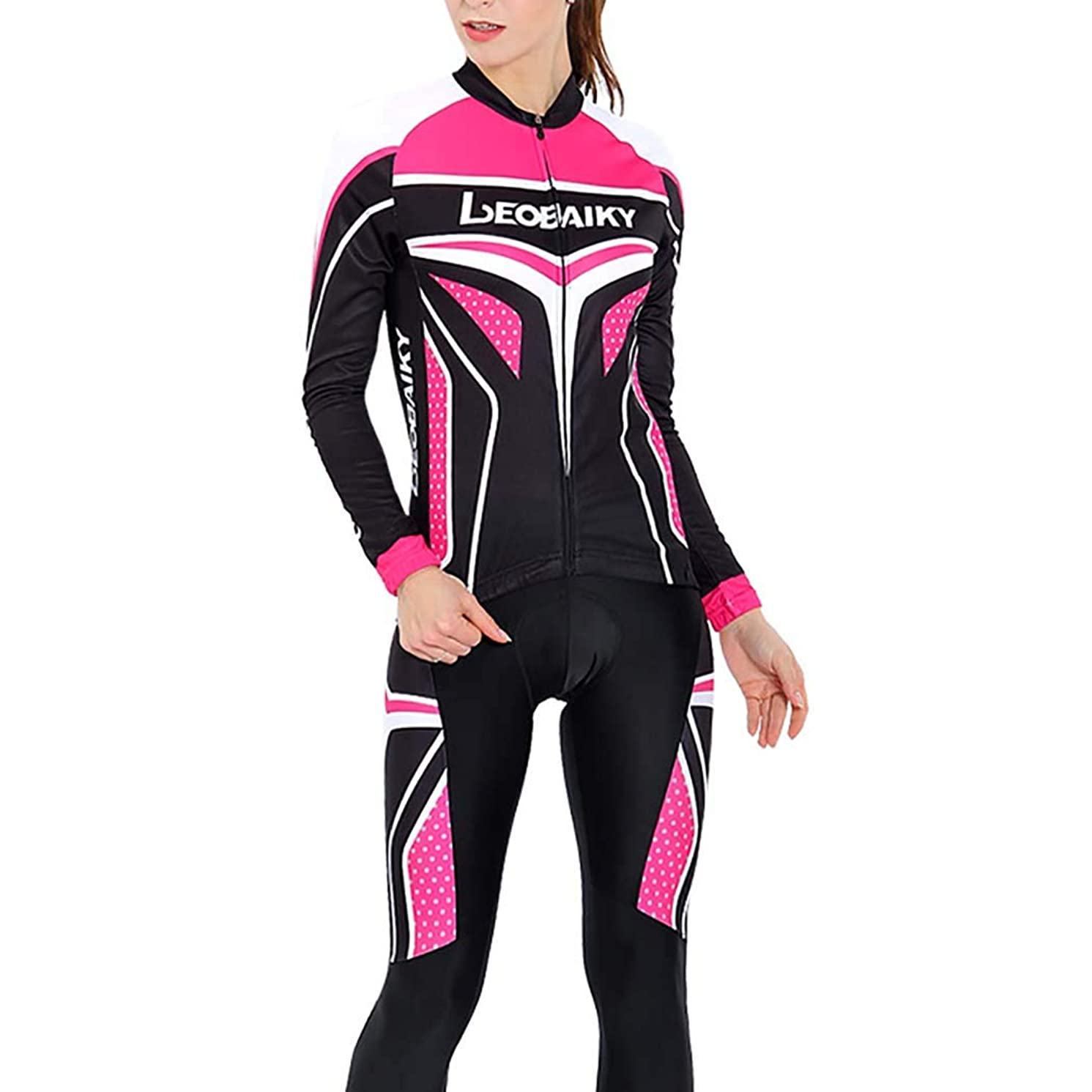 LEOBAIKY Cycling Jersey, Cycling Shorts Women Cycling Shorts Women Padded Quick Dry for MTB Road Bicycle Outdoor Sports,XL