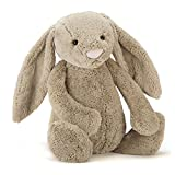 Jellycat Bashful Beige Bunny Stuffed Animal, Huge, 21 inches