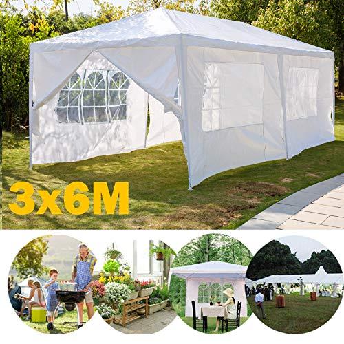 Xinng 3x6M Waterdichte Grote Tuin Bijgewerkt 120g PE Materiaal met Volledige Zijpanelen voor Outside Party Bruiloft Tent Festival Commerciële Evenementen Paviljoen Wit