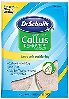 Dr. Scholl's Extra Thick Callus Removers 4 Cushions ea. (Packs of 5)