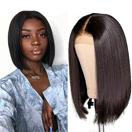 Short Bob Wigs Echthaar Perücke 150% Density Straight Lace Front Wig Echthaar perücken für Schwarze Frauen 4x4 Lace Closure Bob Wig10 Zoll