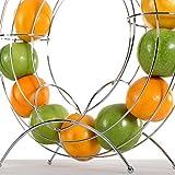 DESIGN DELIGHTS DEKORATIVER FRÜCHTEKORB Circle | 40 cm, Metall, Silber | Obsthalter, Fruchtspender - 6
