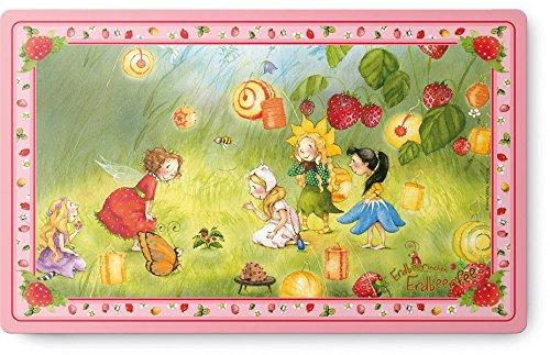 Erdbeerinchen Erdbeerfee. Melamin-Brettchen Motiv