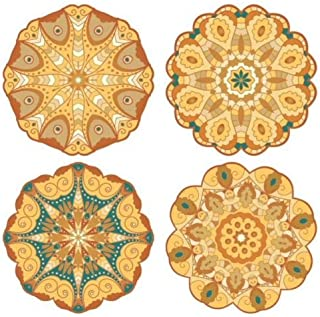 "Pacific Merchants Mandala Gold Tones 6.25"" Plateful Parchment Doily - 20ct"
