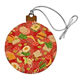GRAPHICS & MORE Messy Sandwich Pattern Bread Cheese Bacon Lettuce Egg Food Wood Christmas Tree...