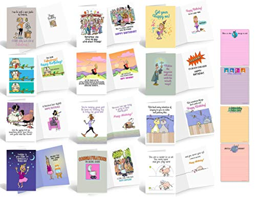 Funny Gift Set of Notepads & Greeting Cards - Office Gifts - Funny Notepads- Funny Birthday Cards