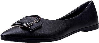 [花千束] パンプス レディース フラットシューズ ポインテッドトゥ 可愛い 韓国風 オフィス 通勤 デート 二次会 旅行 お出かけ 人気 プレゼント 柔らかい 歩きやすい カジュアルシューズ ローカット ぺたんこ レディース 靴