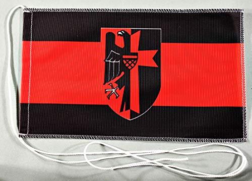 Sudetenland Sudeten Land 15x25 cm Tischflagge in Profi - Qualität Tischfahne Autoflagge Bootsflagge Motorradflagge Mopedflagge