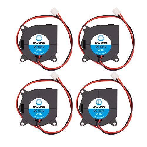WINSINN 40mm Blower Fan 5V 4020 40x20mm Turbine Turbo Brushless Cooling for 3D Printer Extruder Hotend - High Speed (Pack of 4Pcs)
