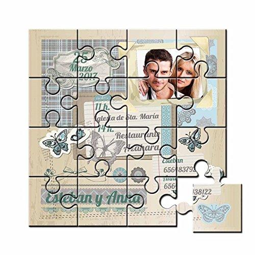 Puzzles invitaciones boda
