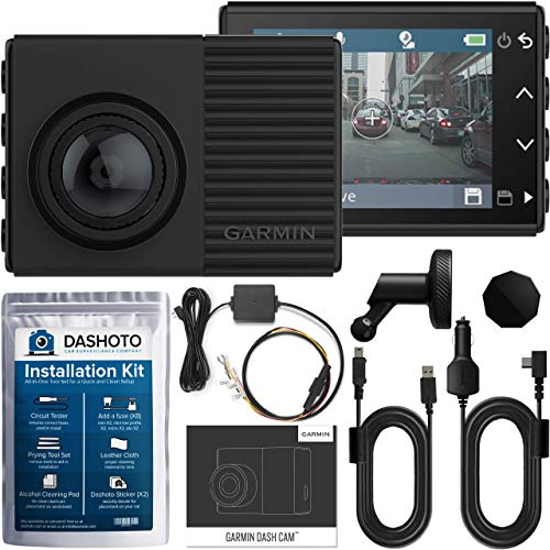 Garmin 66 Dash Cam 66W HDR 1440P Ultrawide Bundle | 180 Degree Viewing Angle | WiFi 1440P QHD GPS Voice Control | Parking Mode Cable and Installation Kit Included (New 2019)