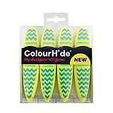 ColourHide My Designer Highlighter - Pack of 4 (Yellow)