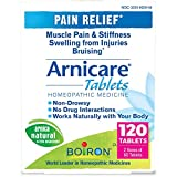 Boiron Arnicare Tablets Homeopathic Medicine for Pain Relief, Muscle Pain, Stiffness, Swelling, and Bruises, Non-Drowsy, 120 Tablets, 120 Count