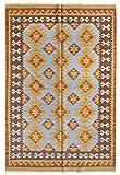 HAMID - Alfombra Kilim Lori con Diseño Moderno - 100% Lana - Alfombra Tejida a Mano - Alfombra de Pasillo, Salón, Dormitorio, Sala de Estar, Entrada (D.3, 300x200 cm)