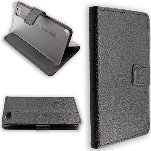 Casco para Leagoo Elite 1, Bookstyle-Case Funda Protectora a Prueba de Golpes para Smartphone (Carcasa de Color Negro)