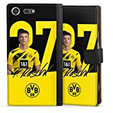 Etui Compatible avec Sony Xperia XZ Premium Etui Folio Etui magnetique Borussia Dortmund BVB...