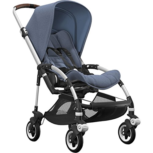 Fantastic Deal! Bugaboo Bee5 Complete Stroller with Aluminum Frame with Blue Melange Seat Fabric and...