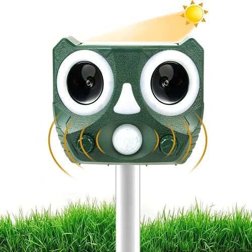 2021 Neu Katzenschreck für Garten, Katzenschreck ultraschall Hundeschreck Marderschreck, Solar Tiervertreiber für Katzen, Hunde, Marder, Vögel,Fuchs, 5 Modus, IPX66 Wasserdichter