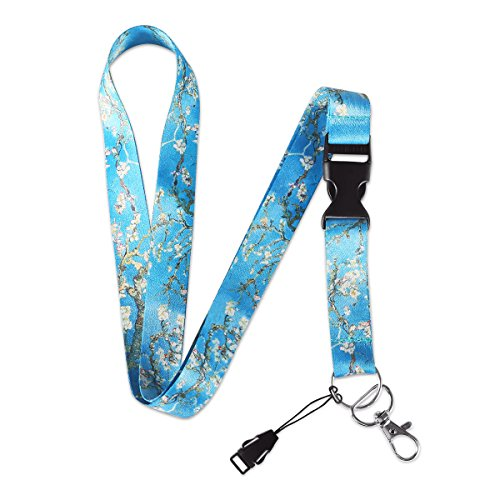 MELIFE Van Gogh Almond Blossoms Premium Lanyard, Detachable Neck Strap with Snap Buckle and