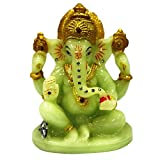 DIMENSIONS : height: 12cms width: 9cms depth: 7cms ; Weight : 230gms ; Color : Radium(glows in dark) ; Material : Fiber Lord Ganesh is worshiped before the beginning of any event and is known as remover of obstacles This ganpati idol with the unique ...