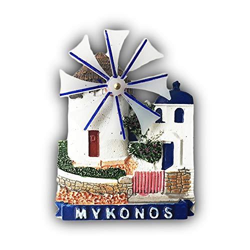 3D Mykonos Grecia Frigorifero Magnete Frigo Souvenir turistici Mestiere in Resina Fatti a Mano Adesivi magnetici Casa Cucina Decorazione Regalo di Viaggio