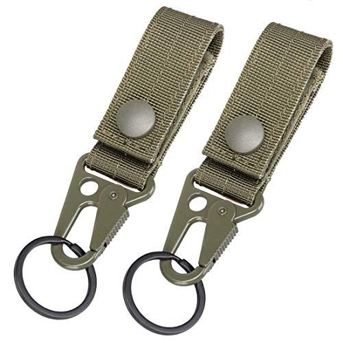 Magarrow Taktischer Schlüsselanhänger, Gürtelclip, Molle-Gurtband, Gurtband, Befestigung zum Aufhängen, Karabinerhaken