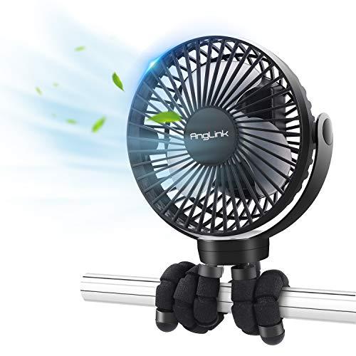 Mini Ventilatore Portatile, Ventilatore Silenzioso USB, 3 Velocità, Rotazione a 360 °, Batteria da 5000mAh,per Scrivania, Auto, Casa Ufficio,Viaggiare, Alimentata a Batteria o USB