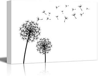 wall26 - Canvas Prints Wall Art - Dandelions Blowing Away in The Wind | Modern Wall Decor/Home Decoration Stretched Gallery Canvas Wrap Giclee Print. Ready to Hang - 12