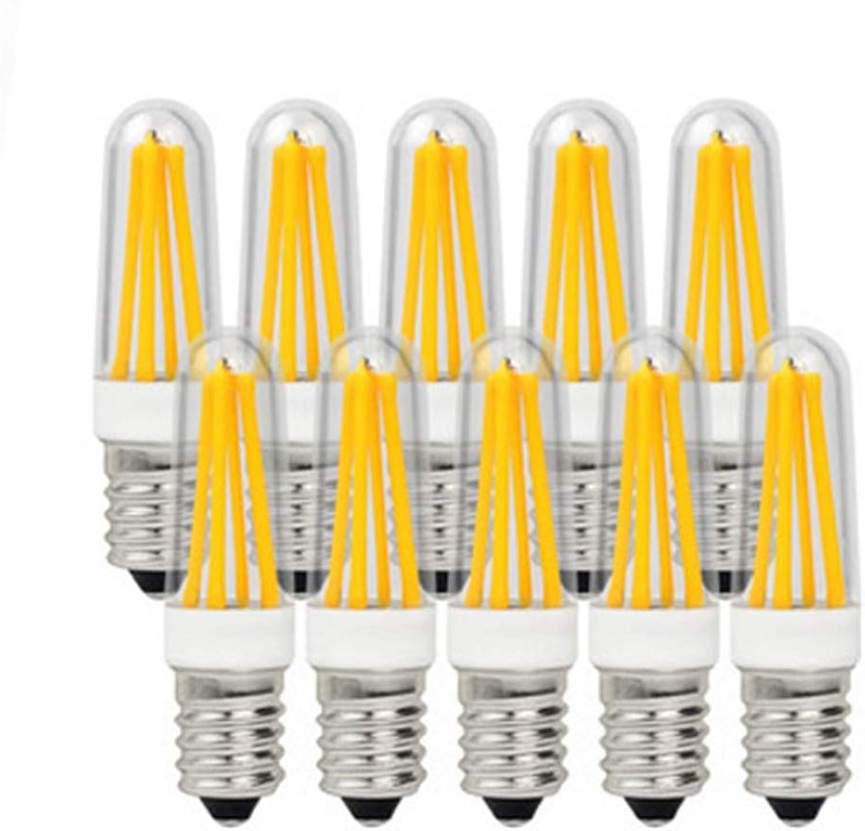 JIALUN-Ampoules 4 Watt Mini-Kerzenlampe 350 Lumen COB-Filament E12 (Kerze Kandelaber) 40 W quivalent (10er-Pack) (Farbe   Warmwei)