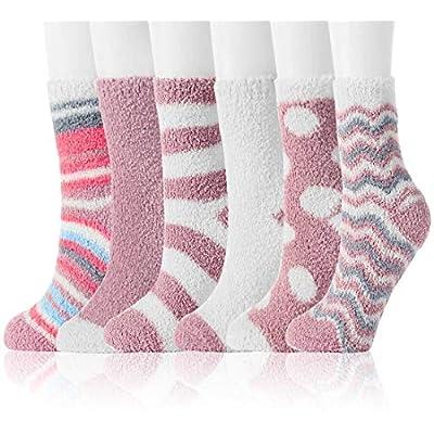 Amazon - Save 40%: Fuzzy Socks for Women Winter Warm Soft Fluffy Socks for Home Sleeping…
