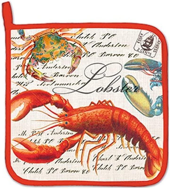 Michel Design Works Cotton Potholder Lobster