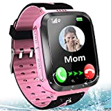Kids Smart Phone Watch Waterproof LBS Tracker for Boys Girls Age 4-12 with SOS Calling Camera Puzzle Games Alarm Clock LED Flashlight 1.44' Touch Screen Smartwatch Birthday Gift