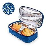 PracticDomus Porta Bocadillos Infantil Termoinsulado Iris Barcelona Modelo Fun. Color Azul