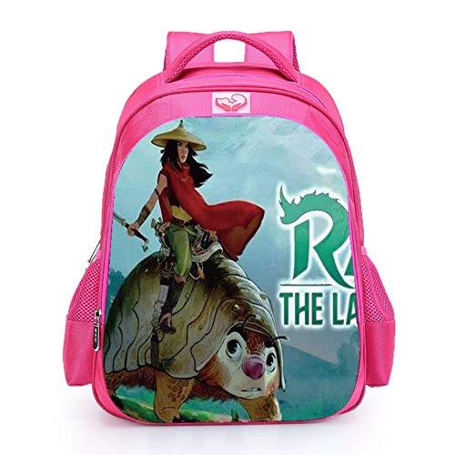 Muchachas Raya y el último dragón mochilas escolares Bolsas de almuerzo para estudiantes Bolsa de hombro Bolsas impresas 3D