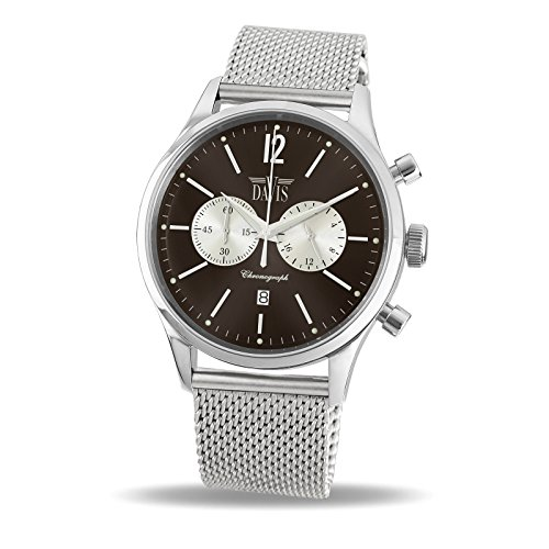 Davis 1752MB–Orologio Sport Uomo Vintage Cronografo Quadrante...