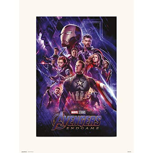 Grupo Erik Stampa decorativa da parete, Marvel Avengers Endgame One Sheet, 30 x 40 cm