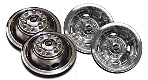 PacificDualies 49-1608 Polished 16 Inch 8 Lug Stainless Steel Wheel Simulator Kit for 1974-2000 Chevy GMC 3500; 1974-1998 Ford F350; 2008-2021 E350/E450 Van; 1974-1999 Dodge Ram 3500