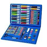 Estuche Colores,Niños Acuarela Lápiz Niños Dibujo Kit de Artista Lápices de Colores Set Crayón Pintura al óleo Brocha Herramienta de Dibujo Regalo Con Caja para Papelería Escolar 86 unids