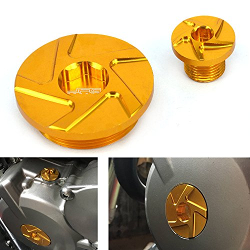 JFG RACING CNC Engine Timing Plugs Pernos - Suzuki DRZ400R DRZ400S DRZ400SM 00-15 , Z400 (LT-Z 400) 03-14 , Z250 05-09 , LT-R 450 06-09
