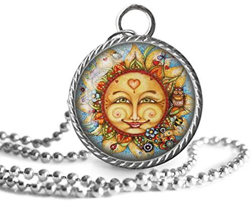 Sterling Silver Abstract Sun Pendant Necklace Abstract Sun Necklace Silver Abstract Sun Pendant Charm Necklace Silver Sun Necklace