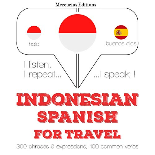 Indonesian – Spanish. For travel cover art