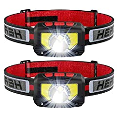 More Convenient Than Ever: Unlike the old version, our newest version headlamps come with an individual ON/OFF button. With our newest headlamps, you don't have to click through all modes to turn it off any more. Just one single button, the headlamp ...