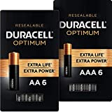 Duracell Optimum AA + AAA Batteries | 6 Count | Long Lasting Double A & Triple A Battery | Alkaline Battery