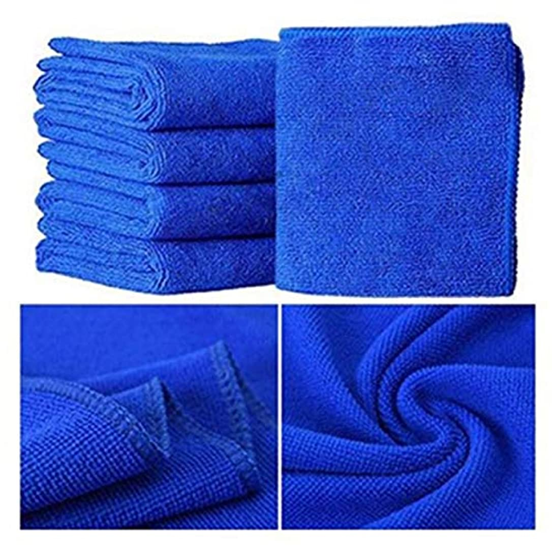 降下ミュウミュウ手入れMaxcrestas - 25*25cm 5 Pcs/ 10 Pcs Small Towel Soft Microfiber Towel great absorbent Towel for bathroom kitchen washing face skin body use [ Blue ]