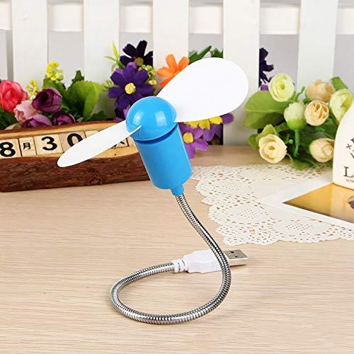 YUXIwang Mini ventilador USB Mini ventilador USB Ventilador flexible de mano portátil USB Mini enfriador de refrigeración para banco de energía y portátil y computadora Gadget de verano (color: azul)