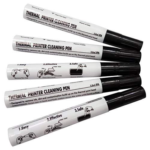 KLOVA 5 Stück Thermodrucker-Reinigungsstift Elektronischer Gesichtsblatt-Druckkopf-Reinigungsstift