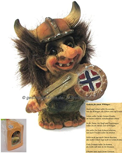 geschenke-trolle.de Wikingertroll mit Gedicht zum Geburtstag, NyForm Troll Norwegen