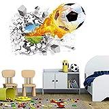 Wandtattoo 3D,Aufkleber DIY für Wohnzimmer,wandtattoo,3D Wandtattoo Fußball,wandaufkleber wohnzimmer,wandaufkleber kinderzimmer,Wandsticker Dekoration,Wandaufkleber,selbstklebendes Wandbild 50x70cm