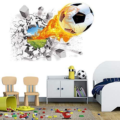 3D Wandtattoo Fußball,Wandtattoo 3D,Aufkleber DIY für Wohnzimmer,wandtattoo,Wandaufkleber wohnzimmer,wandaufkleber kinderzimmer,Wandsticker Dekoration,Wandaufkleber