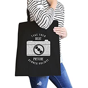 365 Printing Take Your Best Picture Summer Holiday Reusable Canvas Grocery Bag:Seks-irani